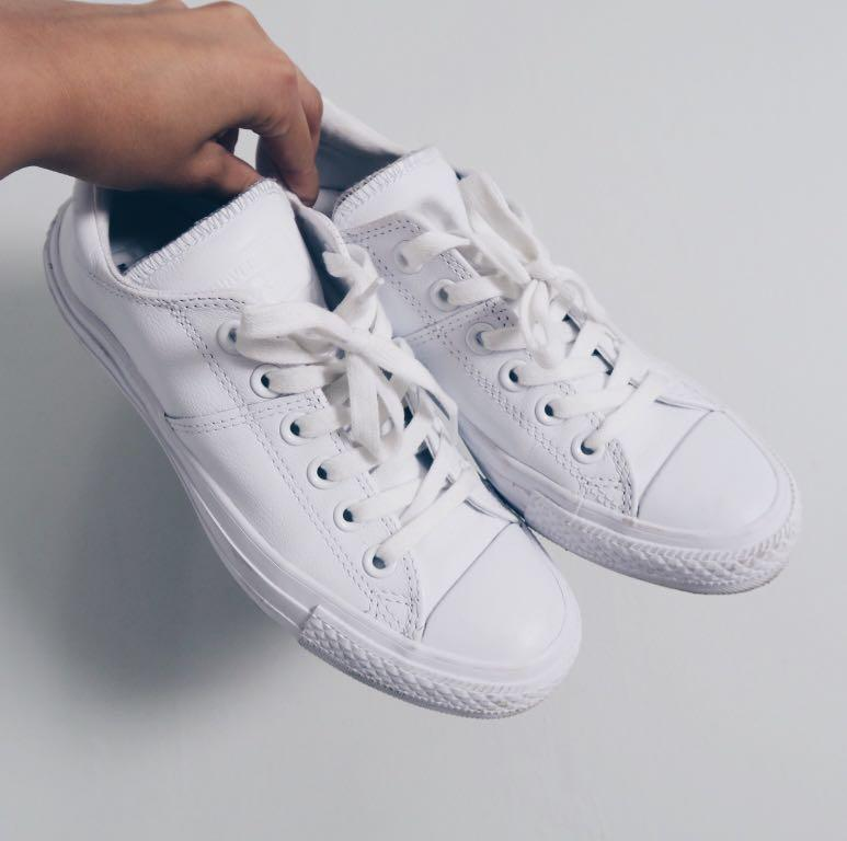 Leather White Converse Chuck Taylor