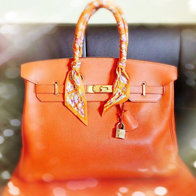 6deb7070c53 Mint condition Hermes Birkin 35 Orange with GHW - free Hermès ...