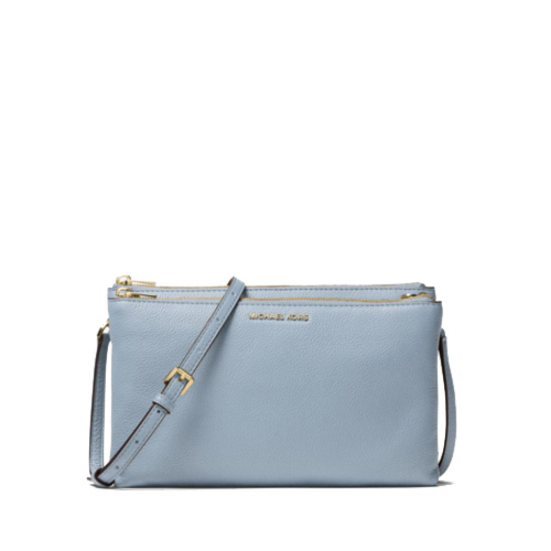 577fee1b5561 NEW ARRIVAL Michael Kors Adele Leather Crossbody Bag Pale Blue ...
