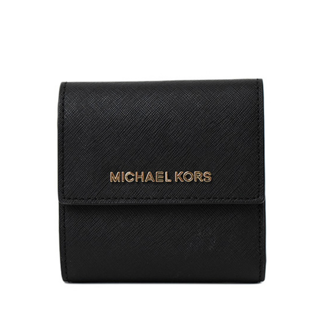 0eb168114ba9 NEW ARRIVAL Michael Kors Jet Set Travel Small Carryall Wallet Black ...