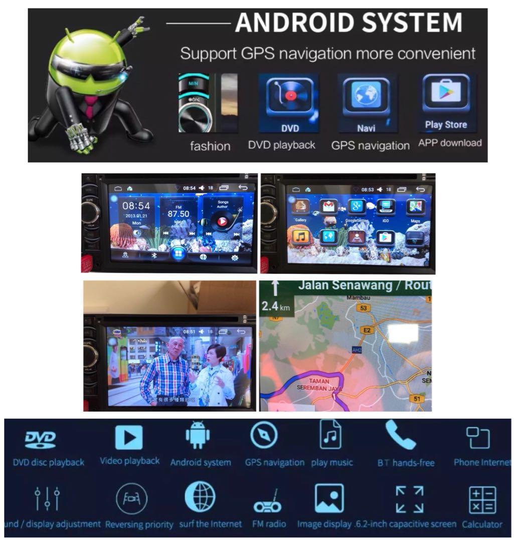 New Premium Quality Android GPS DVD Car Head Unit Player