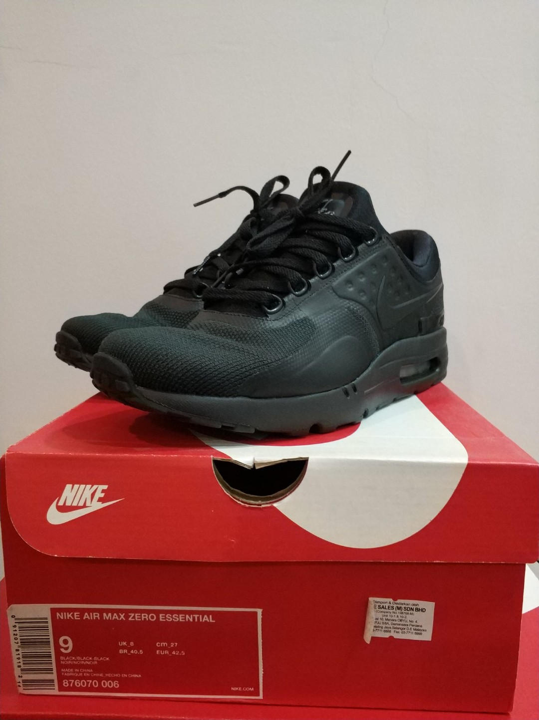 2a1c9a52932d Nike Air Max Zero Tripple Black