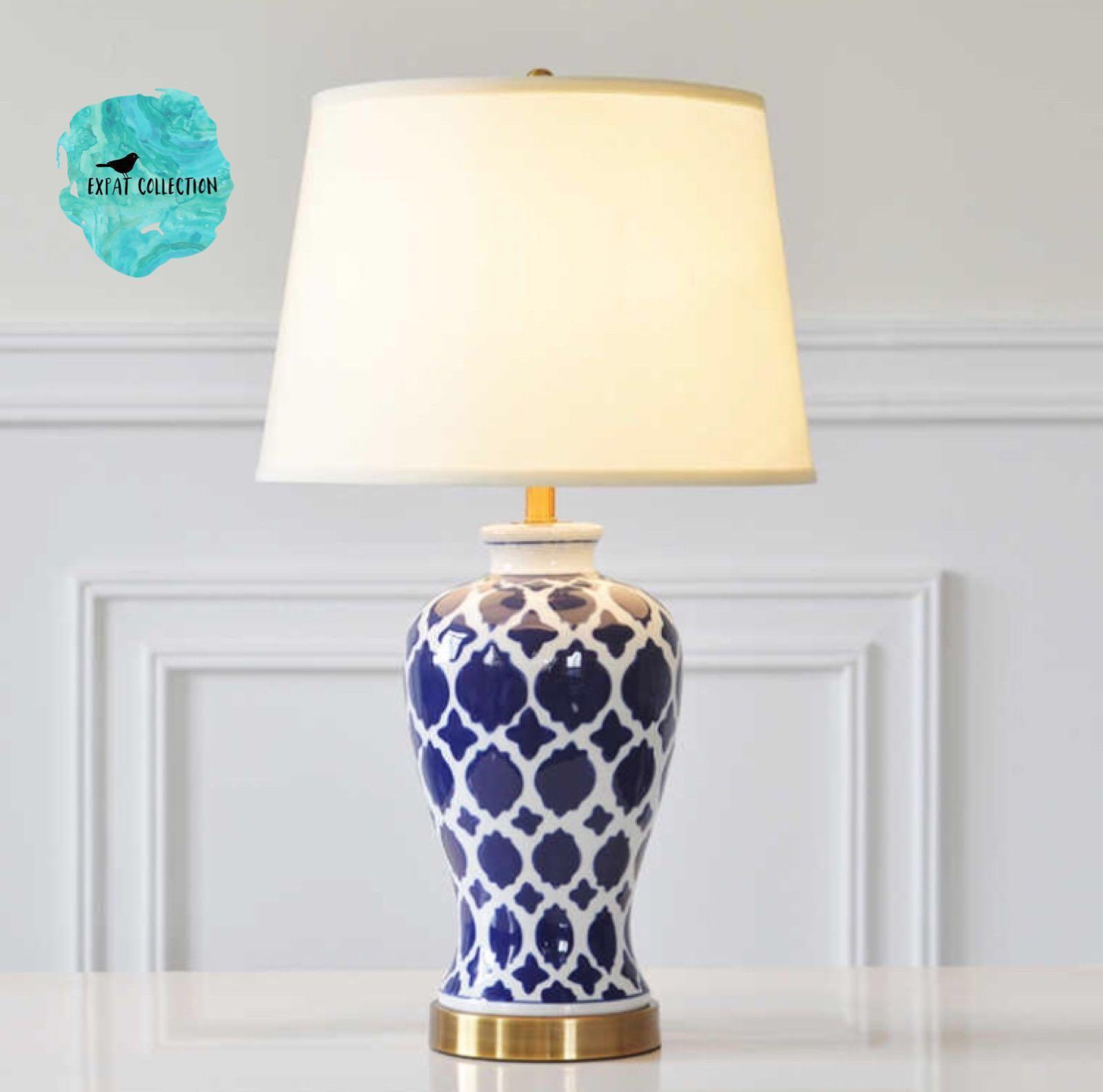 Picture of: Oriental Moroccan Pattern Ceramic Table Lamp Furniture Home Decor On Carousell