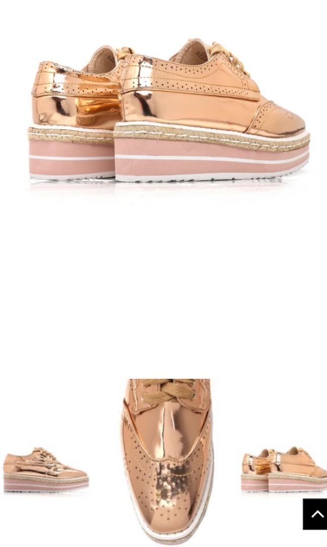 9e6b10fb4475 Oxford Platform Shoes (Rose Gold) US10