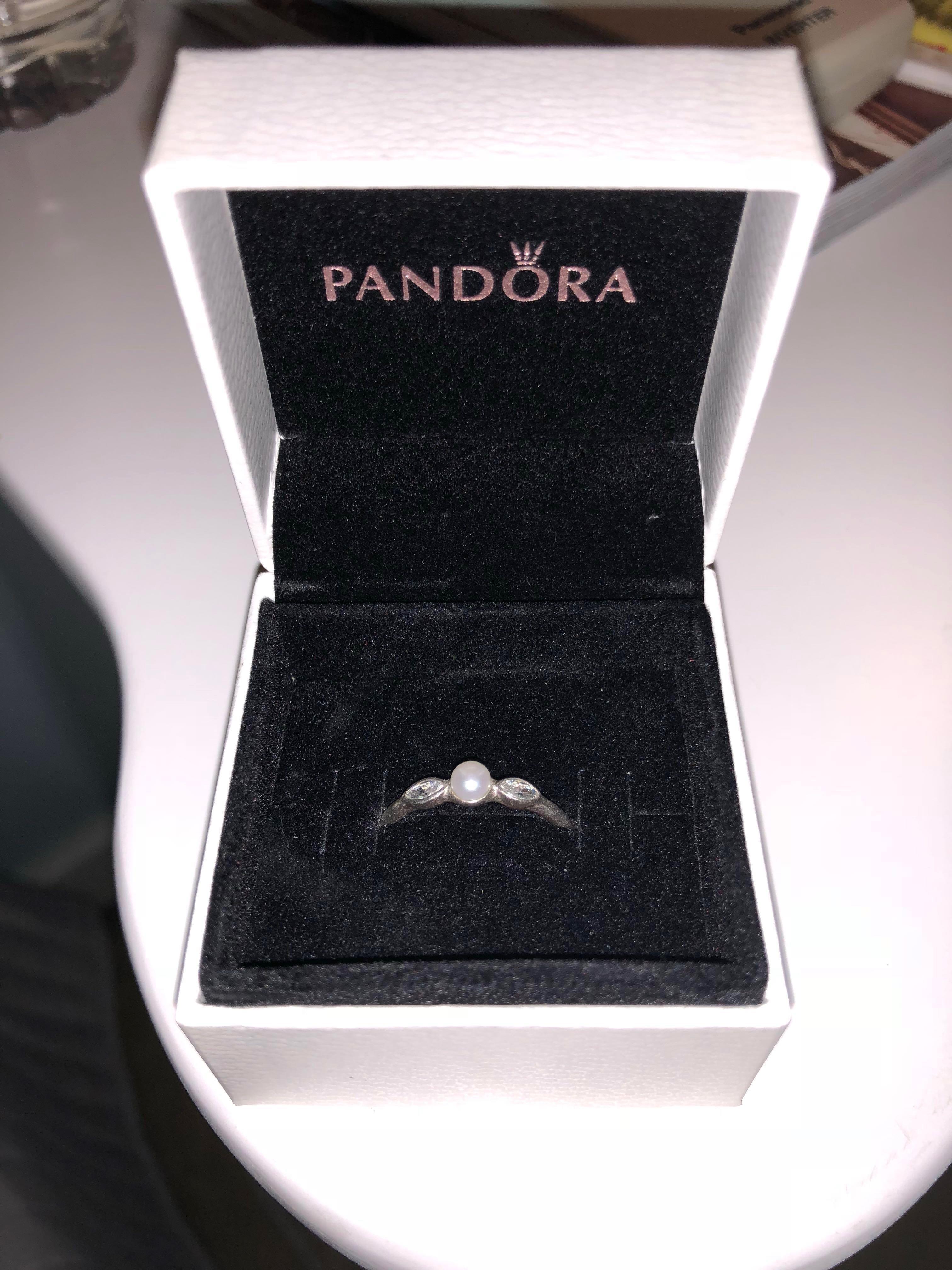 Pandora Pearl Ring Size 54