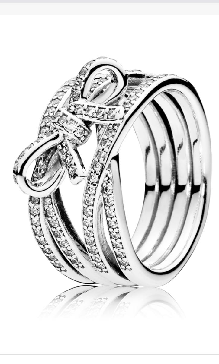 93164f124 Pandora Ribbon Ring Size 48, Women's Fashion, Jewellery, Rings on ...