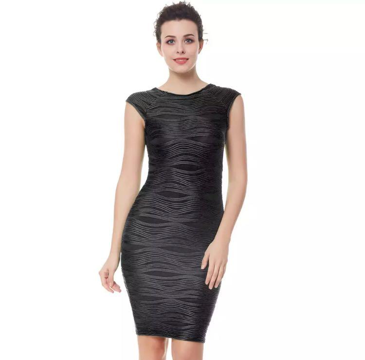92959f4b508f PO) S-XXL Special Pleated Fabric Sexy V Neck Sleeveless Party Dress ...