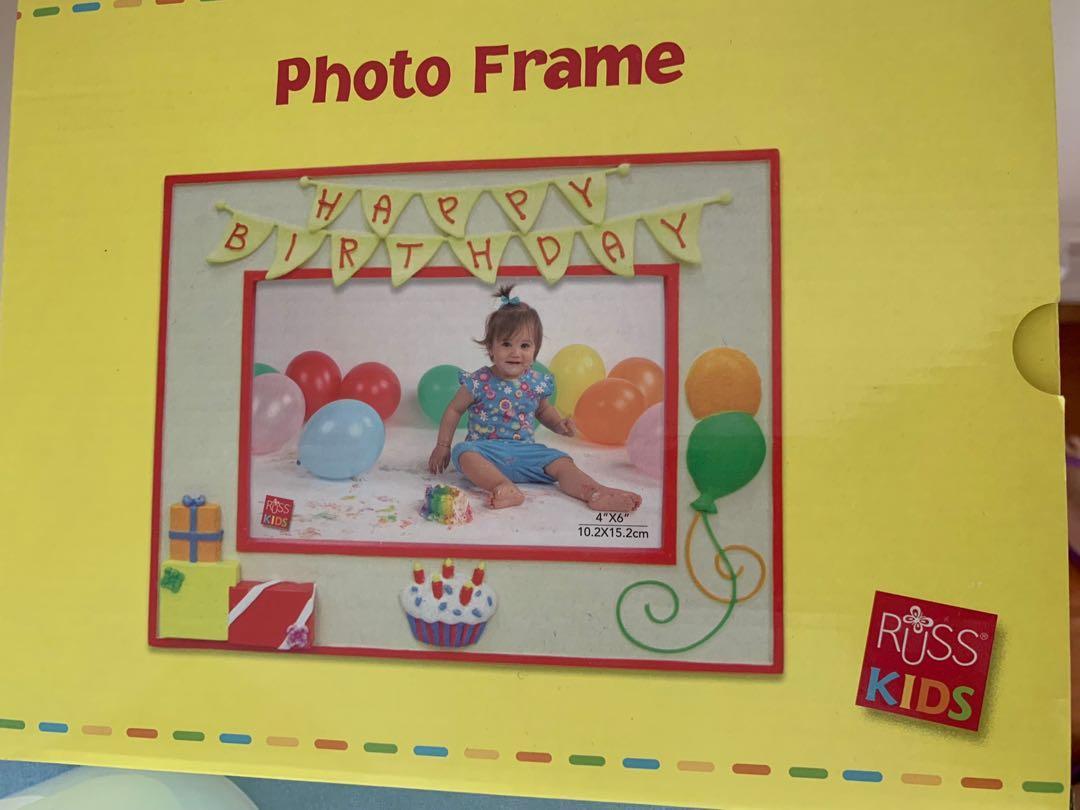 Russ birthday kids photo frame