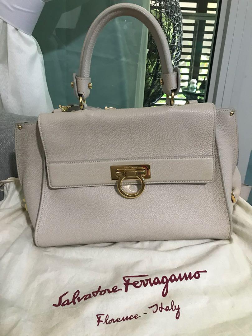 0f421b29487 Salvatore Ferragamo Sofia Bag Medium in Beige, Luxury, Bags ...