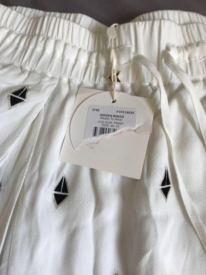 Sass and Bide - Hidden Wings pants, size 10. NEW, unworn, with tags.