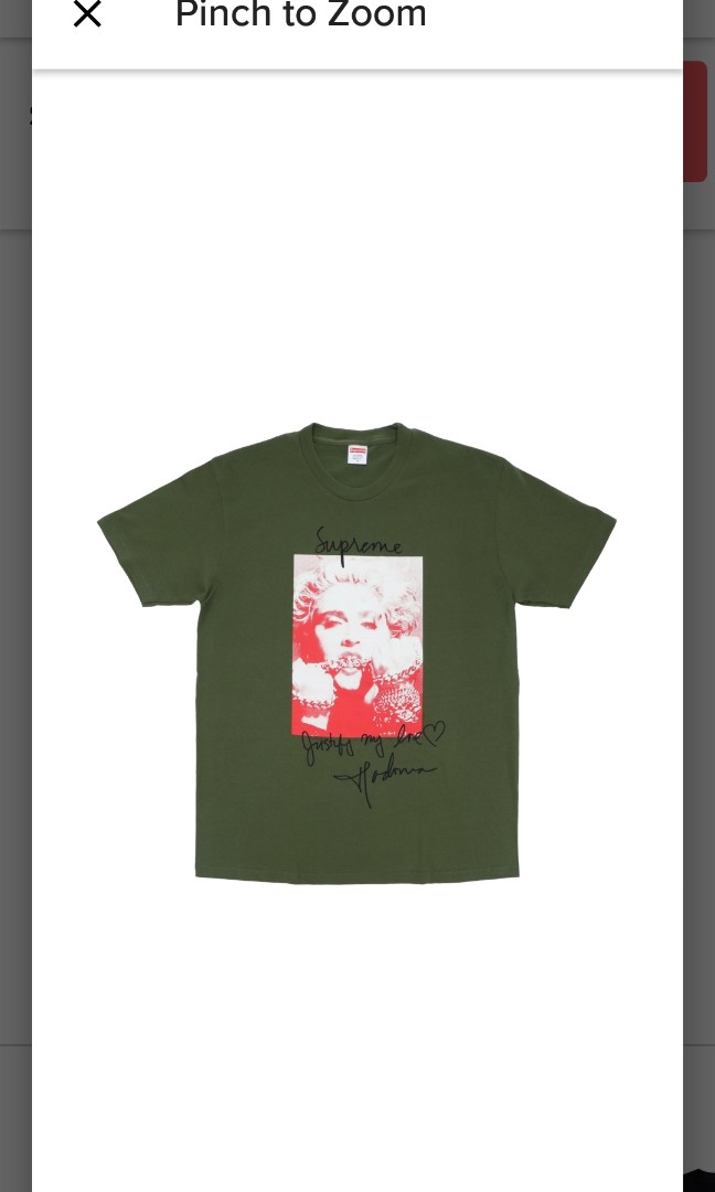 3d7c3fba4071 Supreme Madonna Olive Tee, Men's Fashion, Clothes, Tops on Carousell