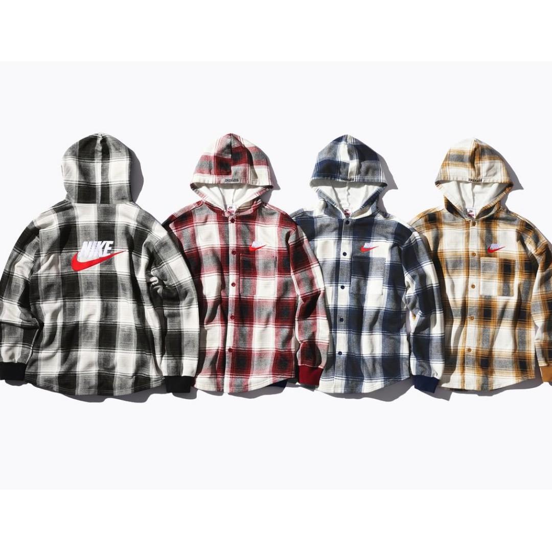 4730fcb3 Supreme Nike Plaid Hooded Sweatshirt Black Size L, Men's Fashion, Clothes,  Tops on Carousell