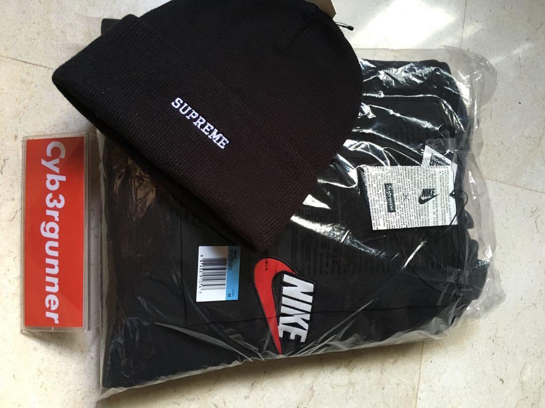 ed7b12ac Supreme x Nike crewneck sweater / beanie, Men's Fashion, Clothes ...