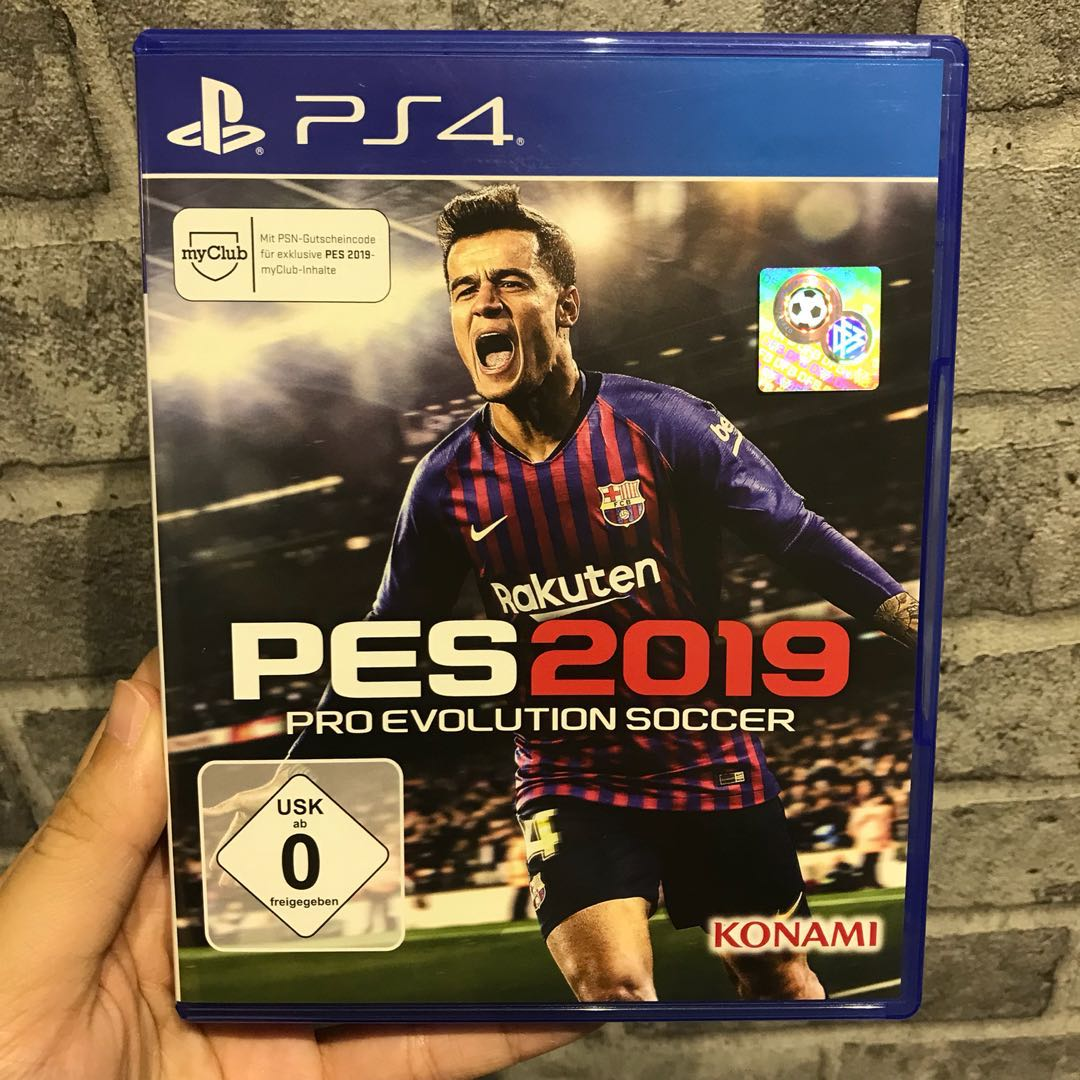 USED  PS4 Game - PES 2019 (Codes unredeemed) 5a60185f95cd8