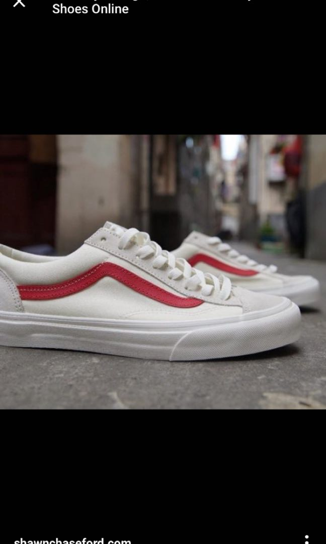 a1ed3b9b06 Vans style 36 Marshmallow Racing Red