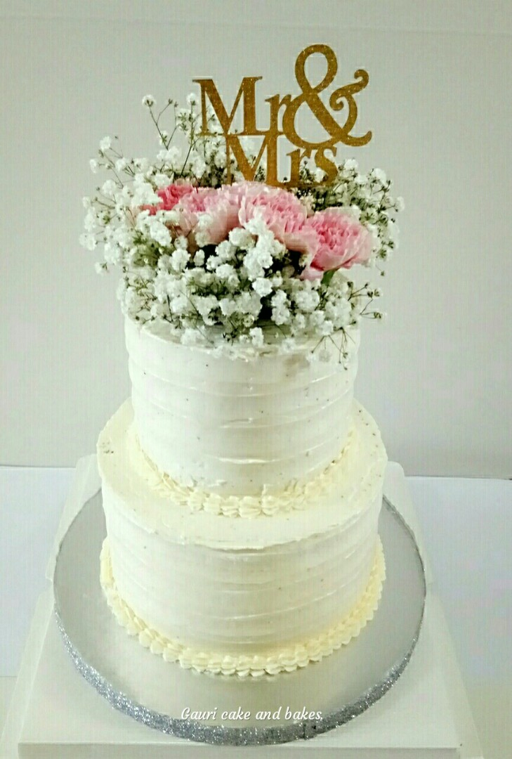 Wedding Cake 2tier Cake Food Drinks Baked Goods On Carousell
