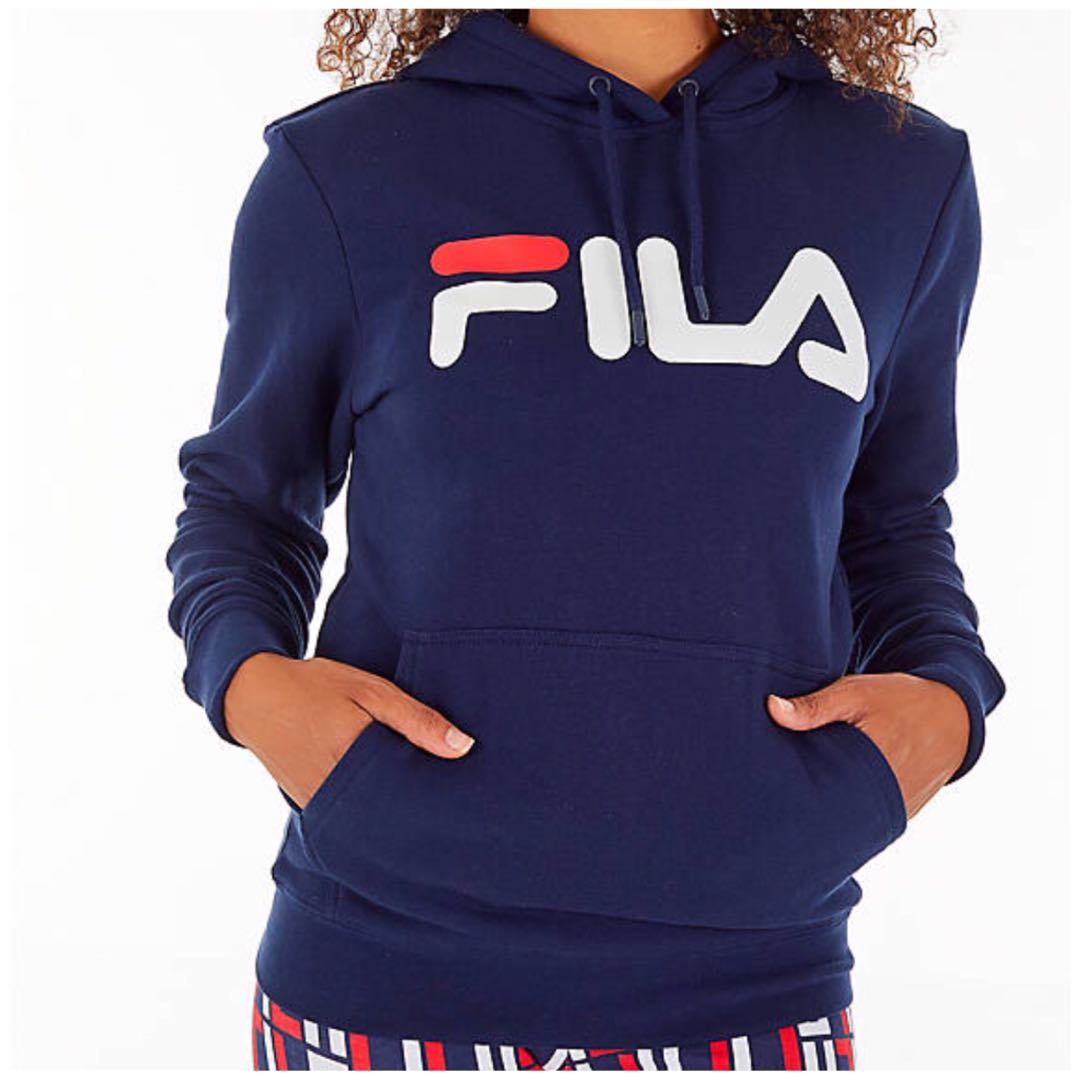 18f965190af Women s FILA Lucy Pullover Hoodie - Navy