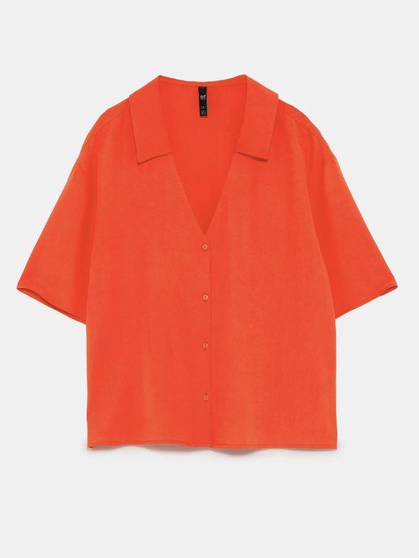 Zara trf Blouse Red