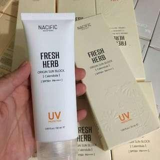 NACIFIC FRESH HERB ORIGIN SUN BLOCK SPF 50+PA++++