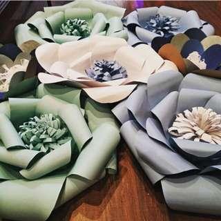 Paper flower untuk acara party