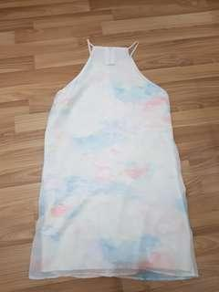BNWOT NEONMELLO OMBRE PASTEL DRESS XL