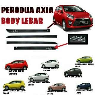 Perodua Axia myvi viva door lining liner moulding with painting
