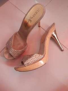 Guess Gold Formal Heels
