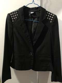 H&M黑色西裝外套