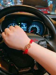 lucky red bracelet charm handmade