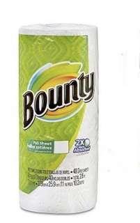 BOUNTY PAPER TOWEL ROLLS 2X More Absorbent