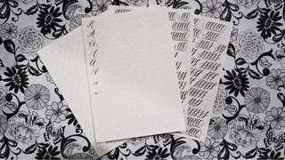 Drill papers for Calligraphy