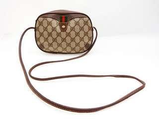 🚚 Gucci vintage 老花斜背迷你古董包