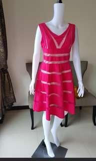 Fuschia Pink knee length Dress