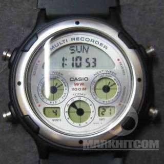Casio BGR-10-7D MULTI RECORDER BUSINESS GRAPH SILVER COLOR WR 100M Watch