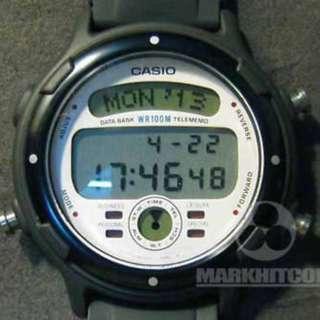 Casio BGT-30 TELE MEMO DATA BANK BUSINESS GRAPH WHITE COLOR WR 100M Watch