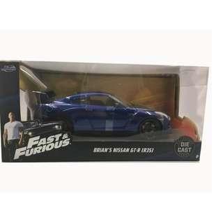 Jada Toys Fast Furious 1:24 scale Nissan GT-R (R35)