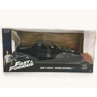 Jada Toys Fast Furious 1:24 scale Dom's Buick Grand National
