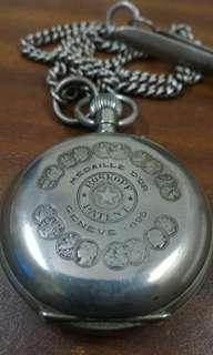 Vintage 1896 Wille Freres Roskopf Pocket Watch Medaille Geneve (RARE) All well function.