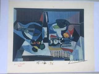 **LAST ONE**Picasso 1946 lithograph hand signed & Paris Gallery stamp