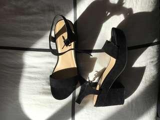 Black Chunk Heels
