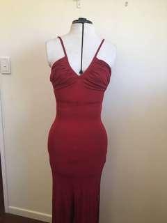 Red Bardot Dress - Size 12