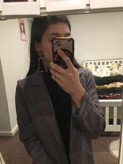Forcast grey/purple lightweight jacket