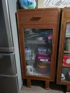 Teak/wood u leg cabinet - one door rare