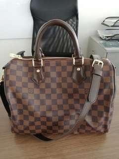 REPRICED!!! Louis Vuitton bandoulier ebene demier speedy 30
