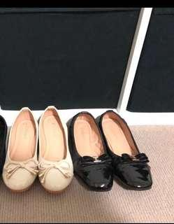 Black and white flats , both for $10