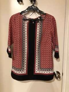 MNG Red Printed Top