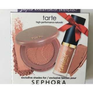 TARTE Amazonian Clay 12-hr Blush in Paaarty Pink (Mini) & Tart Lip Paint (Mini). BNIB