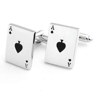 (INSTOCK) Spades Poker Cufflinks