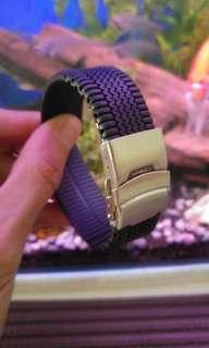 22mm tire soft Silicone Rubber Watch Strap