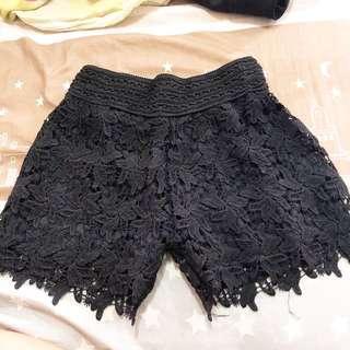 🚚 黑色蕾絲提花褲❤️